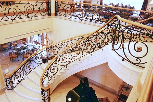 豪宅別墅專用內鍛造欄杆樓梯扶手