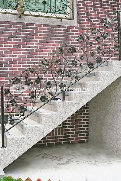 室外緞造樓梯扶手   C2-6003